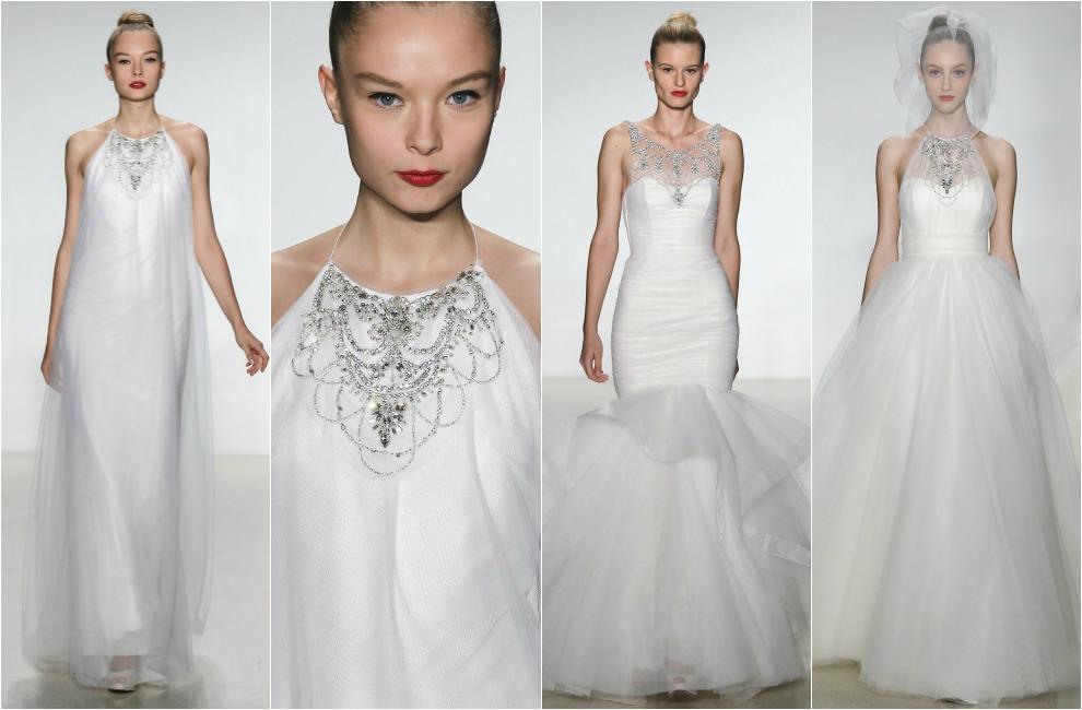 Tres estilos de novia tres maneras de incorporar el collar al vestido