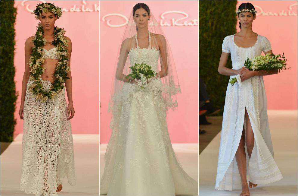 Flores, joyas y espaldas al aire, algunas de las tendencias vistas ...
