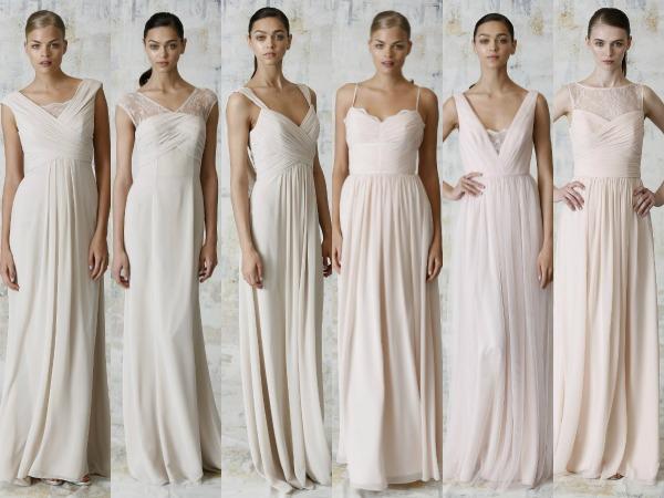 Damas de honor vestidas de blanco, una tendencia que rompe con el protocolo clásico en una boda
