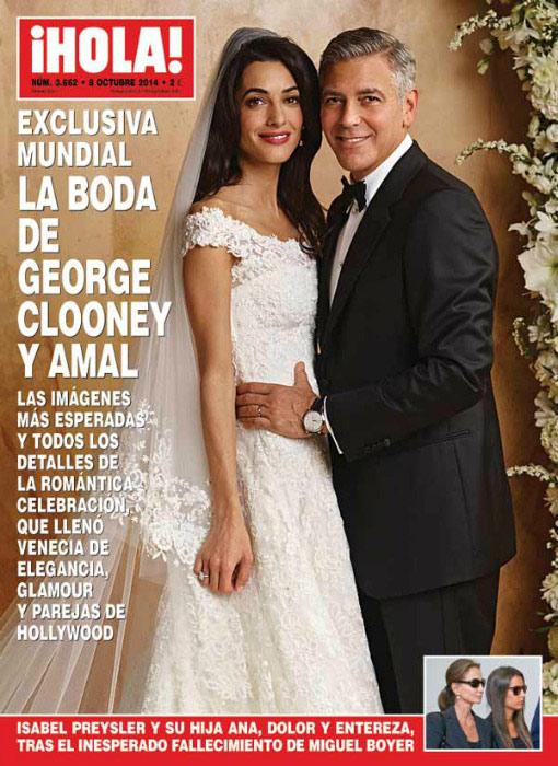 El vestido de novia de Amal Clooney, el último gran diseño de Óscar de la Renta