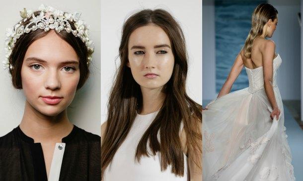 Tres 'beauty looks' de la pasarela de novias de Nueva York (que puedes copiar en casa)