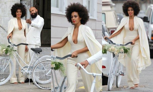 Solange Knowles, una espectacular novia con capa y pantalones