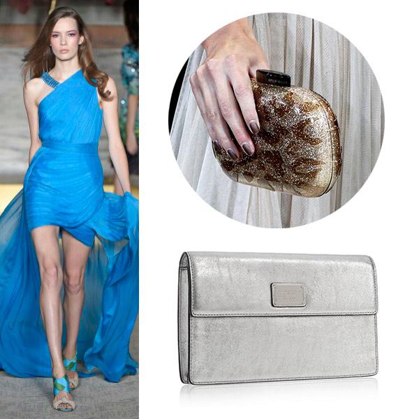 Bolso fiesta para vestido azul