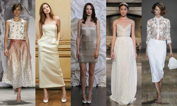 Vestidos de novia tobilleros