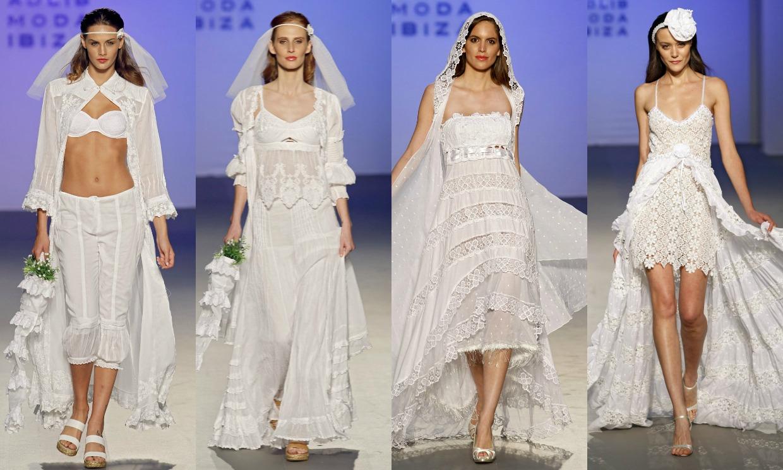 3d4b21f02 El  hippie chic  de las novias con vestidos ibicencos - Foto