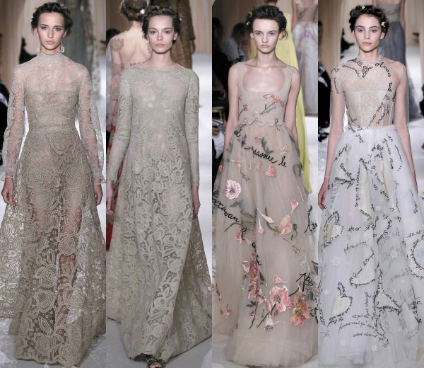 valentino desvela el vestido de novia de sophie hunter, semanas