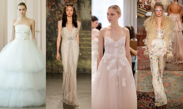 new york bridal week: ¡así son los primeros vestidos de novia de 2016!
