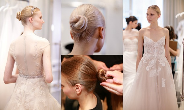 Consigue el peinado de novia del desfile de Monique Lhuillier, paso a paso