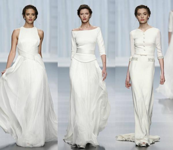 Vestidos novia falda y camisa