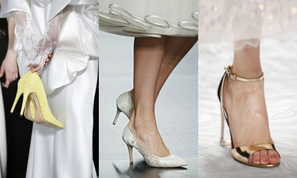 Vestidos de novia zapatos color