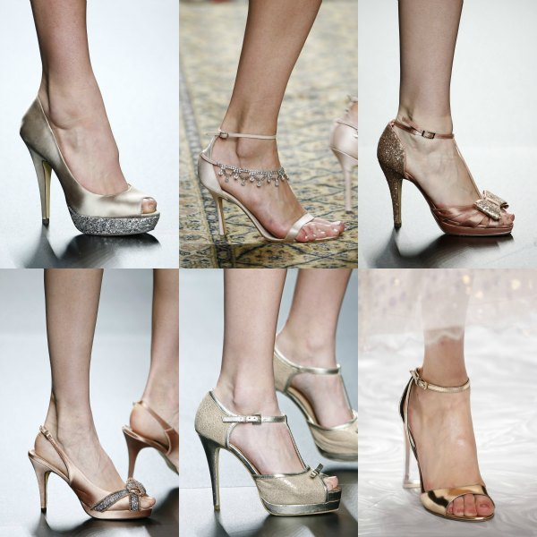 Zapatos novia vestido encaje