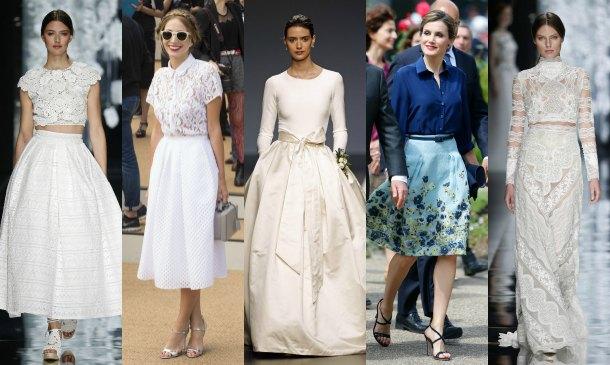 'Tops' y faldas para novias... y también para invitadas