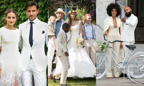 Los 39 celebrity grooms 39 que se casaron de blanco for Trajes de novio blanco para boda