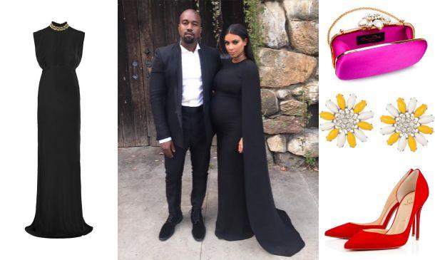 Vestido negro para invitada de boda