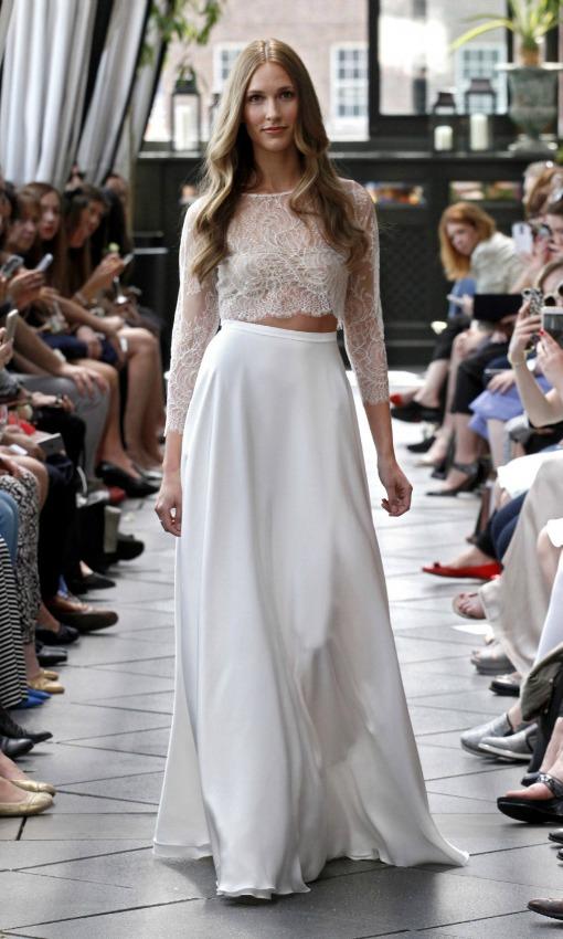 vestidos novia dos piezas 2017