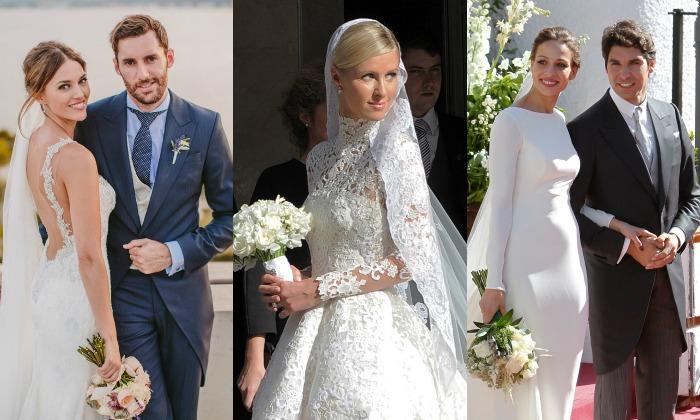 seis tendencias de novia que nos dejaron las 'celebrity brides' del año