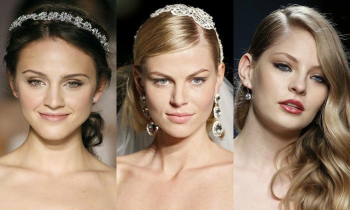Pendientes y recogidos de novia, cinco 'looks' para combinarlos