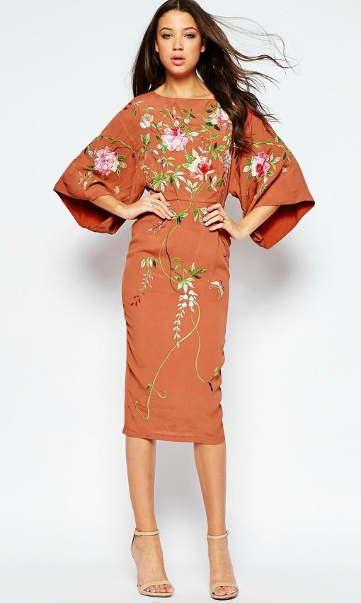 Vestido fiesta kimono