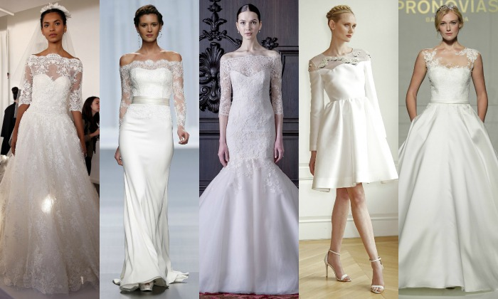 Vestidos de novia silueta a