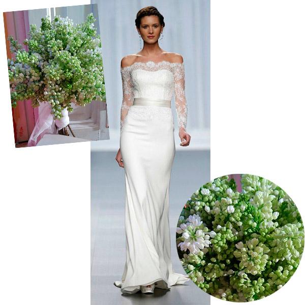 ocho ramos, cinco vestidos de novia