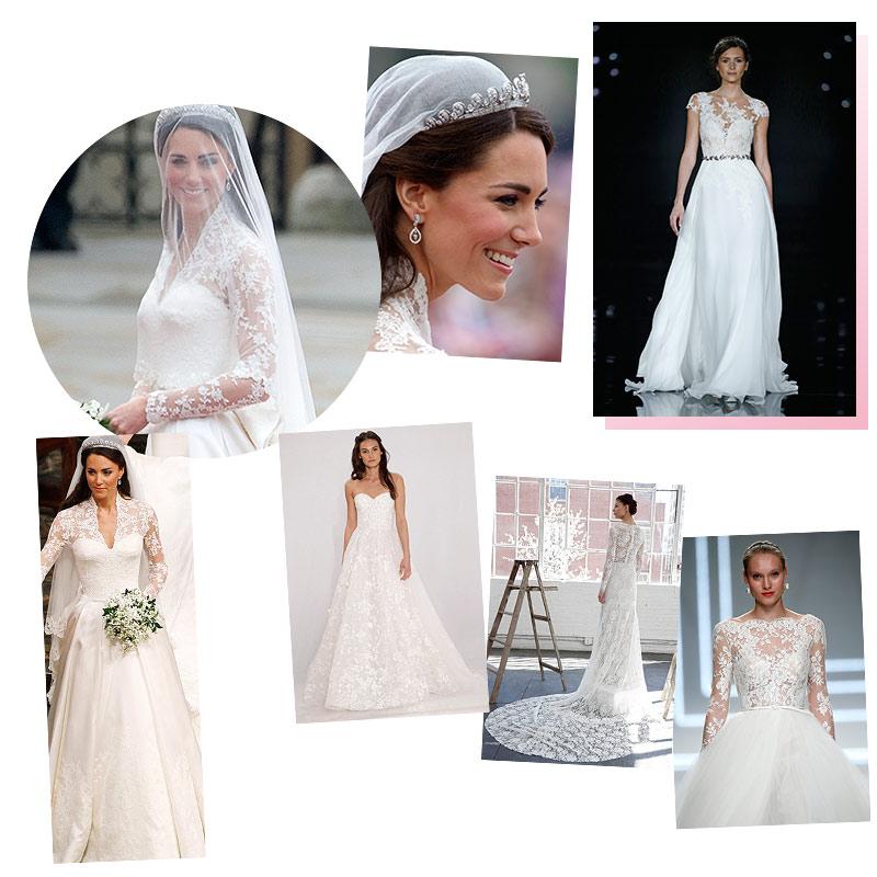 todos los trajes de novia que aún se inspiran en la duquesa de
