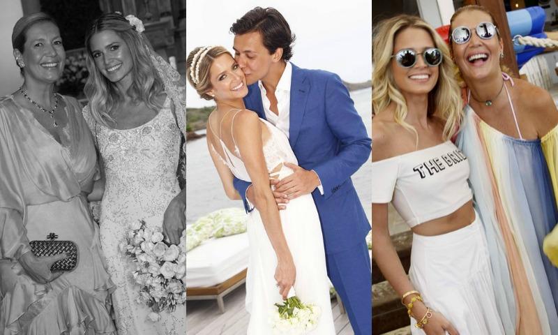 Un Valentino 'vintage', un vestido de diseño y un 'crop-top': los tres vestidos de novia de Helena Bordon