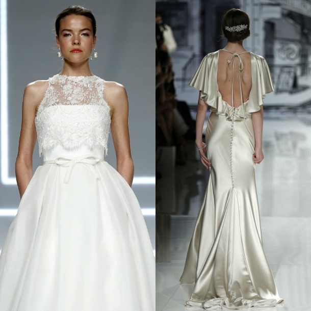 tendencias 2017: vestidos de novia de volantes vs. lazos - foto