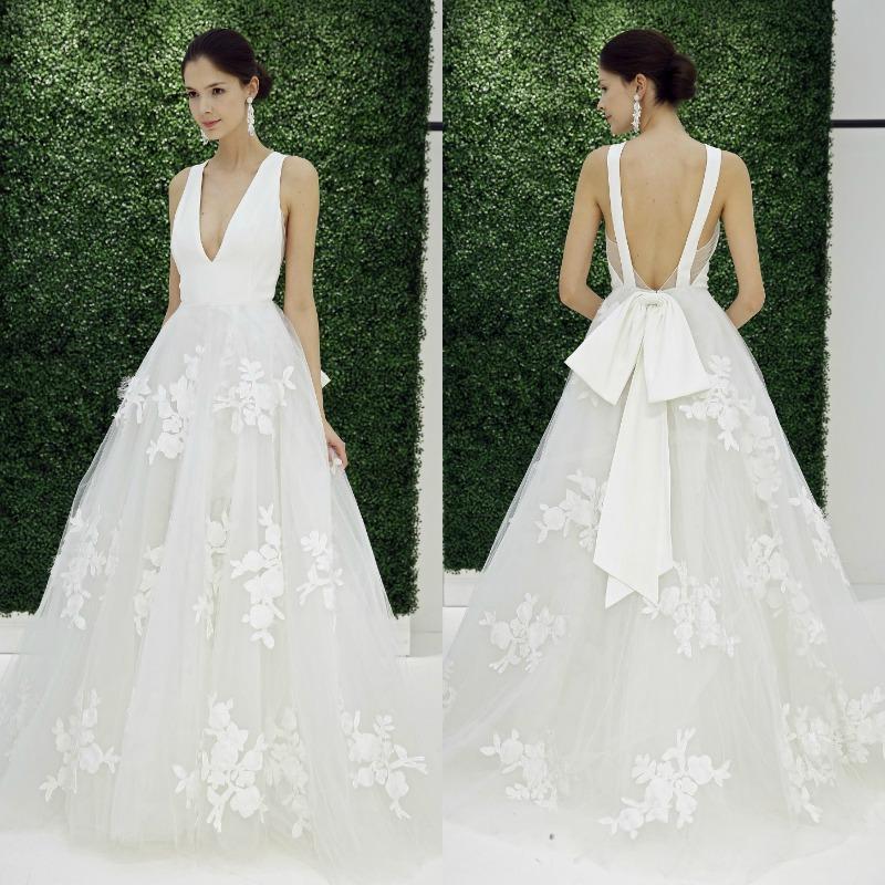 Tendencias 2017: Vestidos de novia de volantes vs. lazos - Foto 1