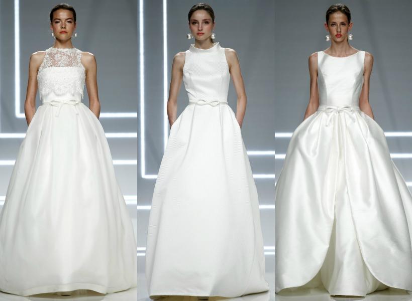 vestidos de novia de volantes vs. lazos, los nuevos 'must' de la