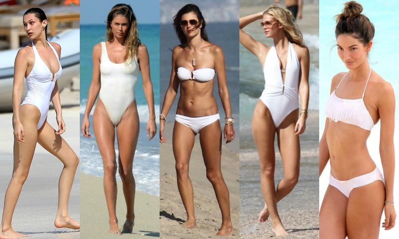 Novias al agua: 'swimwear' en blanco total para la luna de miel