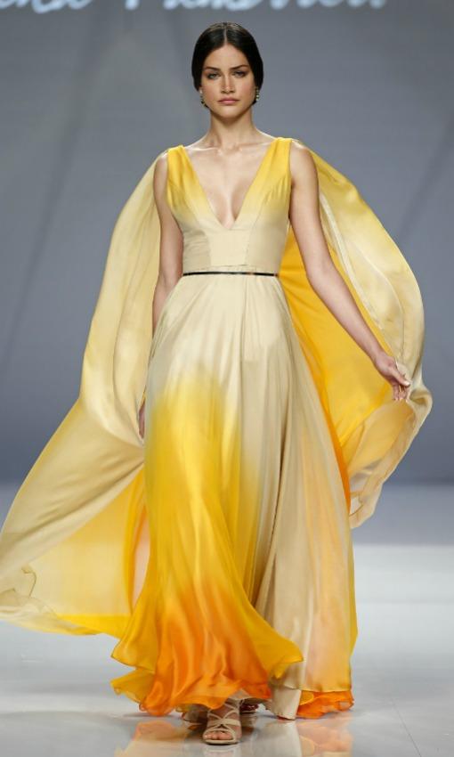 Vestido de boda amarillo