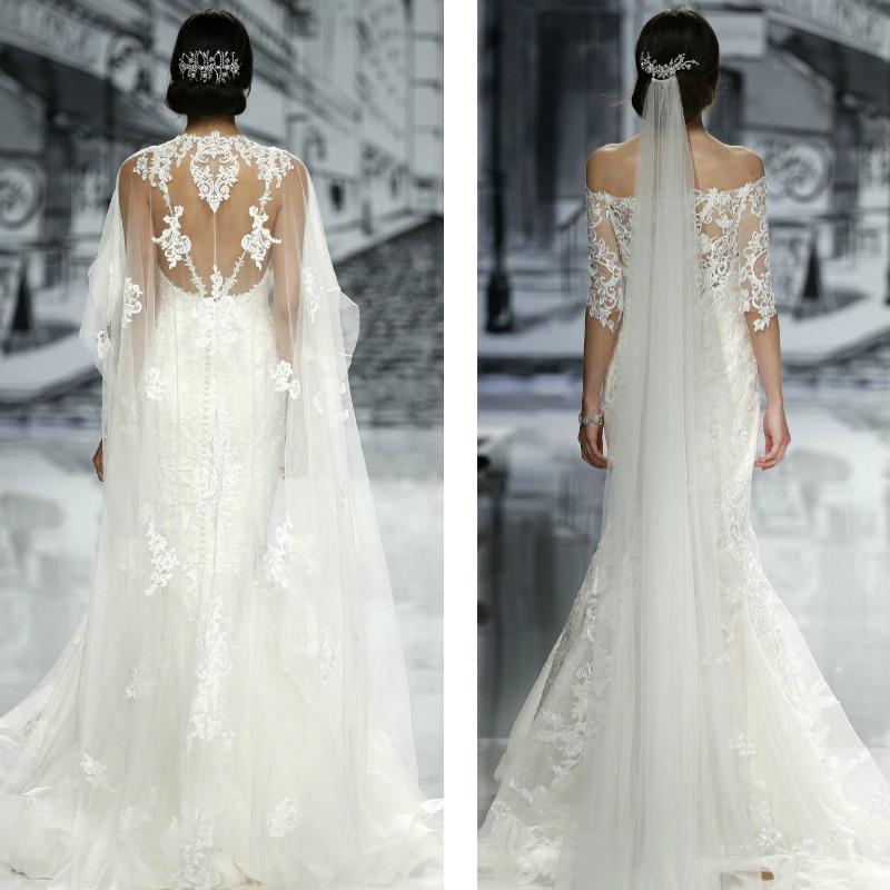 vestido de novia y velo