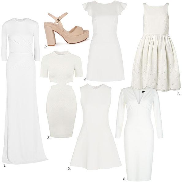Consigue este look con nuestra propuesta de shopping  1. Vestido jersey en  blanco e29782d71872