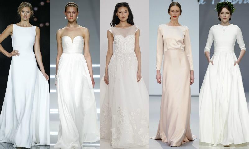 Tendencias 2017: Vestidos de novia súper sencillos