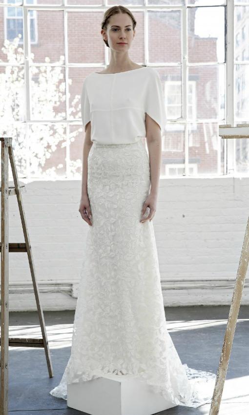 Tendencias 2017: Vestidos de novia súper sencillos - Foto 1