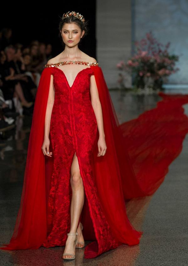 un vestido de novia rojo, y de récord - foto