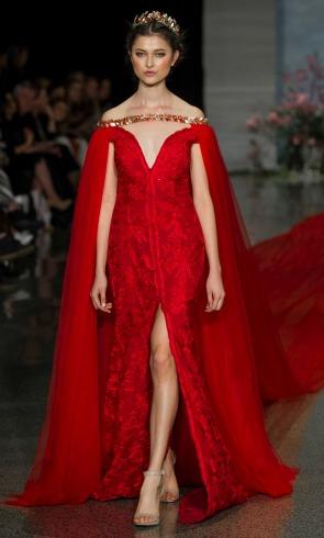Un vestido de novia rojo, ¡y de récord!