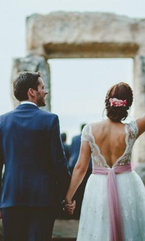 La boda de inspiración asturiana de Noelia y Ales