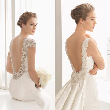 rosa clará: vestidos de novia con espalda joya y escotes