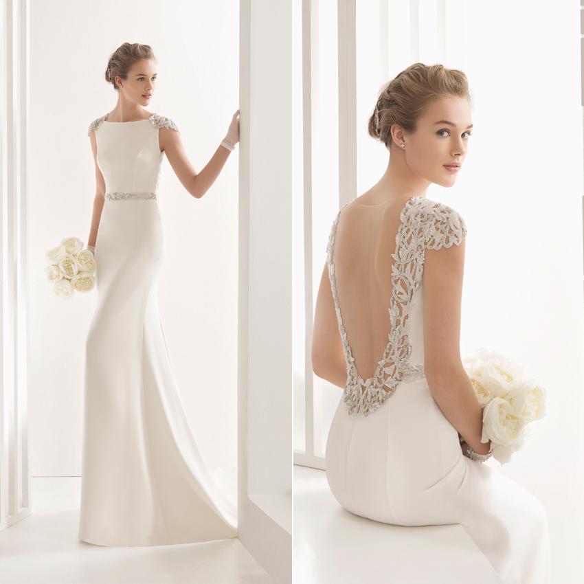 d0b565f85 Rosa Clará  Vestidos de novia con espalda joya y escotes ...