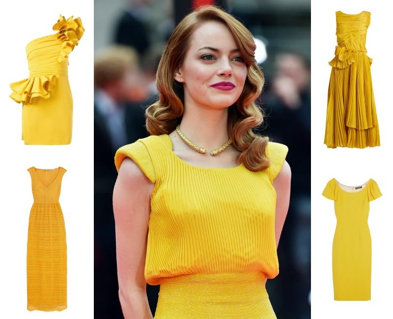 vestidos de novia de color amarillo para dar la bienvenida a la