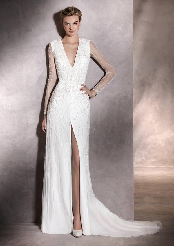vestidos de novia: qué tipo de escote elegir según tu figura - foto