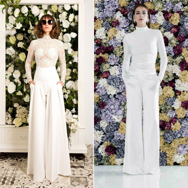 tendencias: 8 looks de novias con pantalón - foto