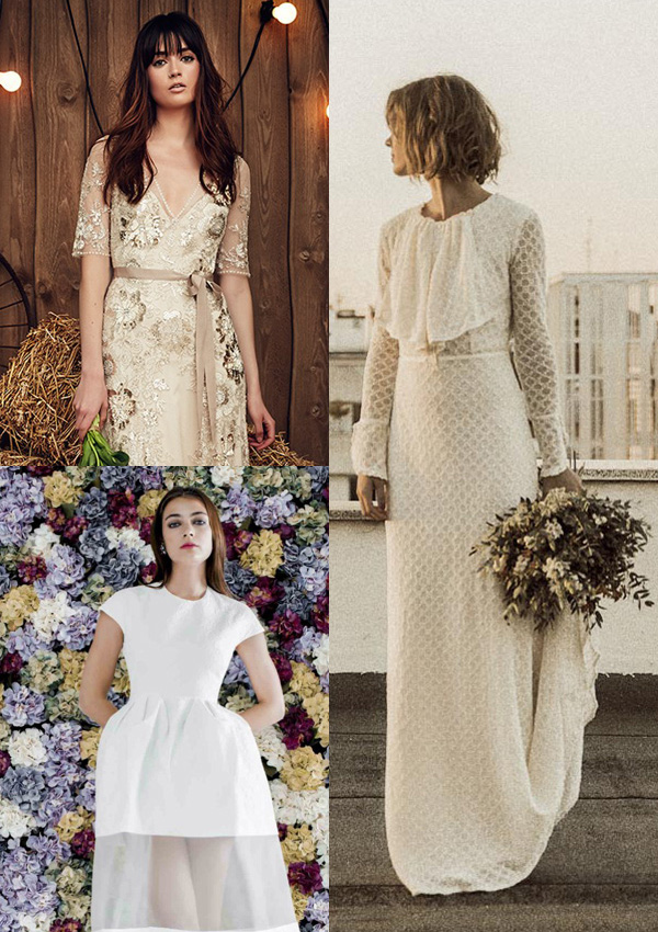 Vestidos de novia para boda informal