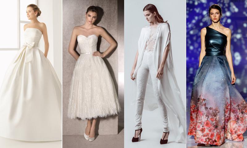 Vestidos de novia: Cuatro estilos para cuatro mujeres diferentes