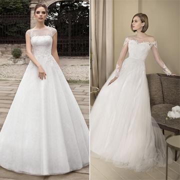 Vestidos de novia tipo princesa con encaje