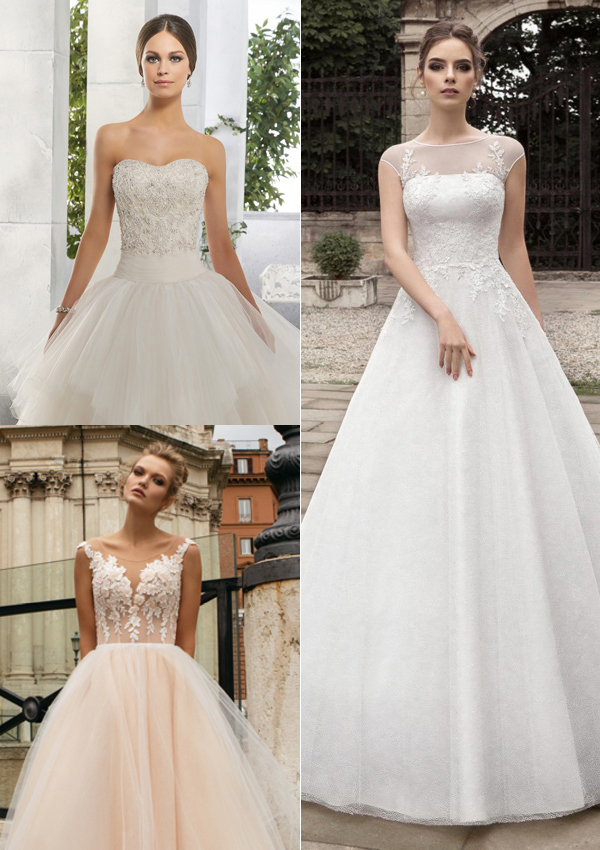 tendencias novias 2017: vestidos de corte princesa - foto