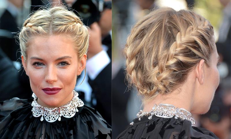 Peinados de fiesta 10 recogidos trenzados de 39 celebrity for Recogido bajo trenzado