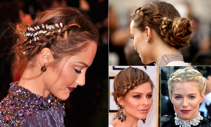 Peinados de fiesta: 10 Recogidos trenzados de 'celebrity'