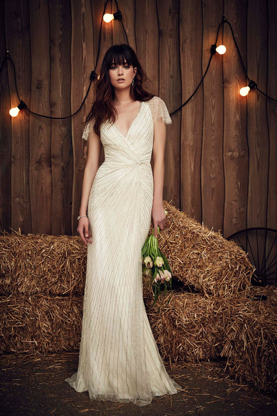 Vestidos de novia corte sirena drapeado